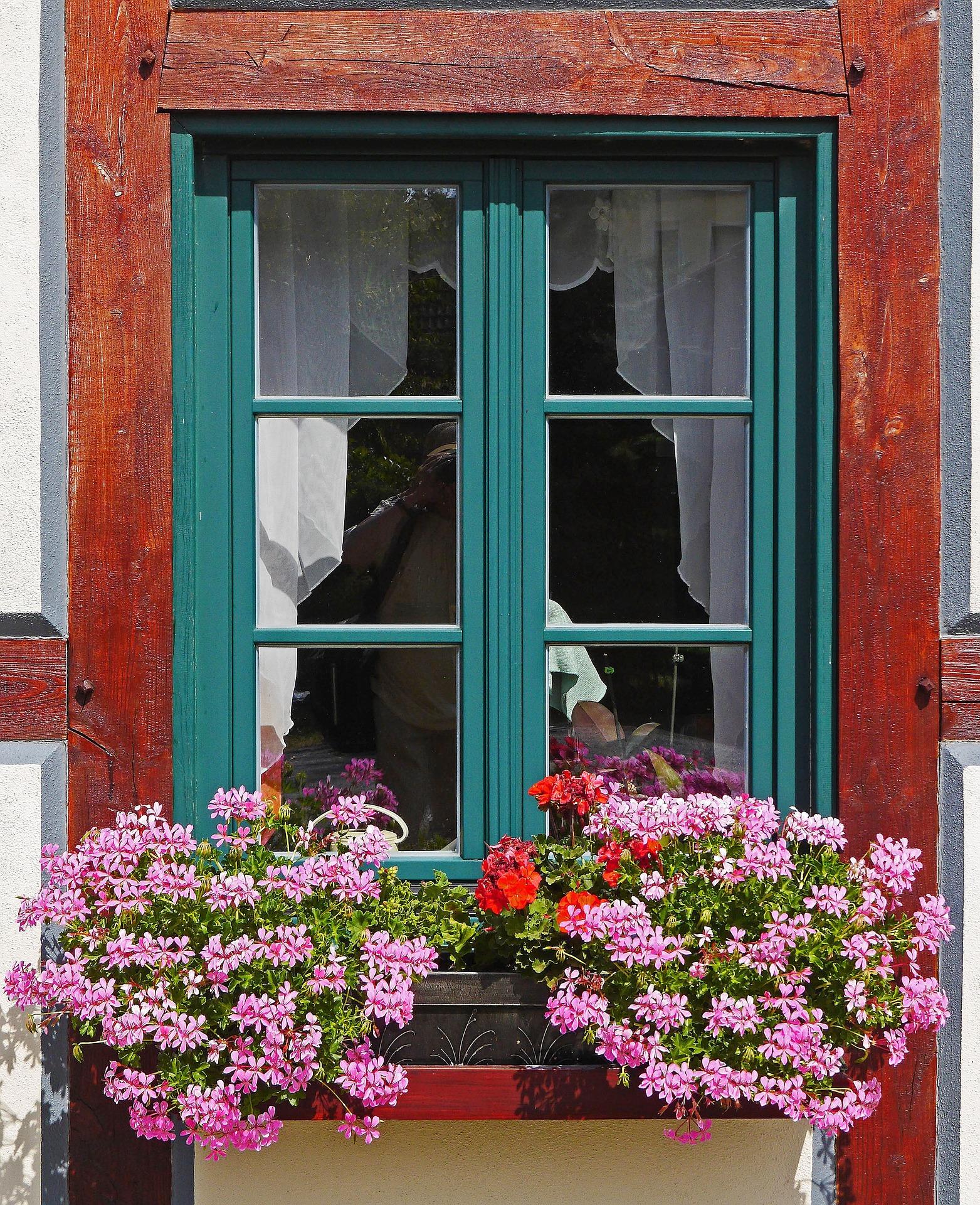 balcone verde fiori