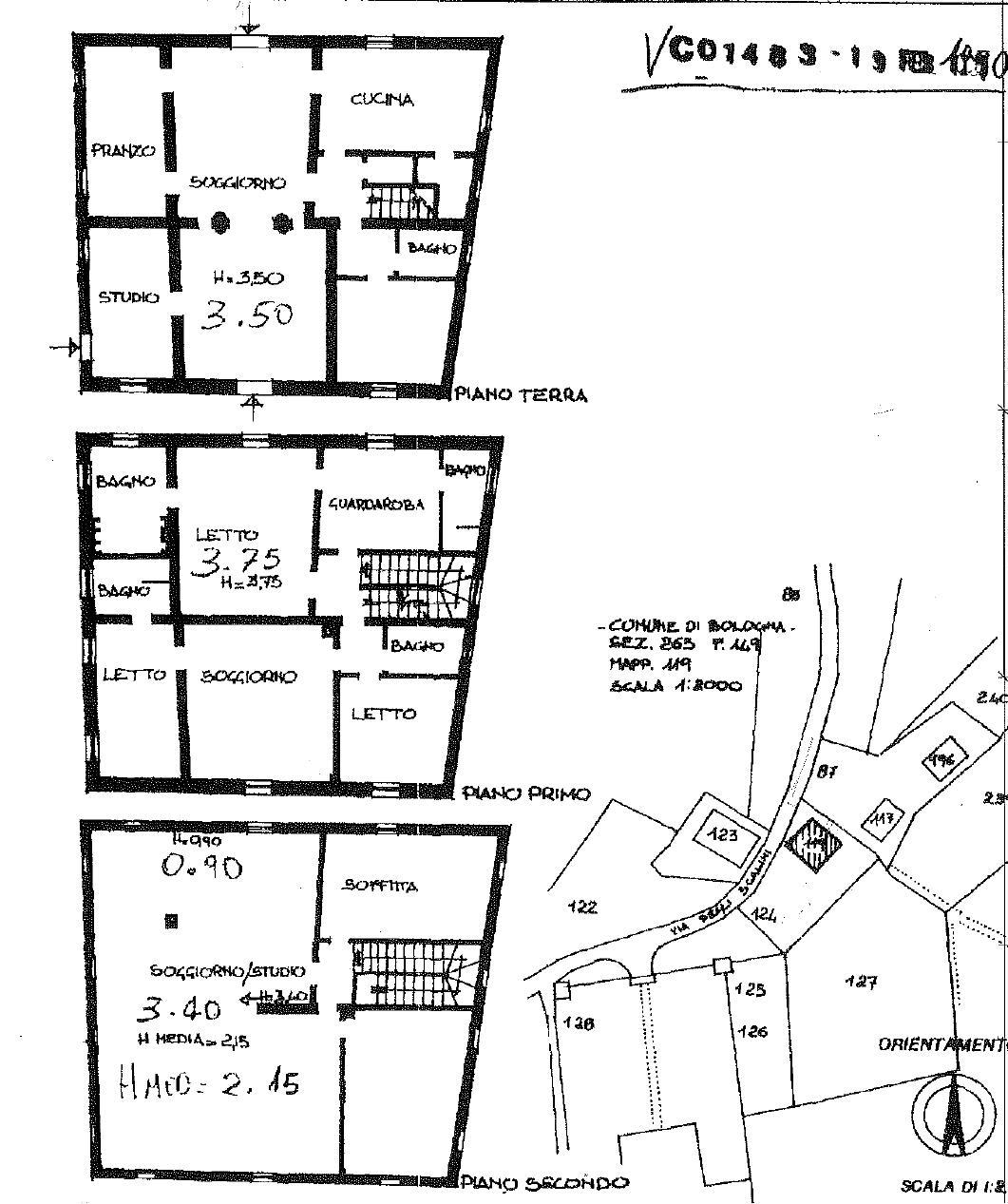 Via degli Scalini,Bologna Sud,15 Rooms Rooms,Residenziale,1192